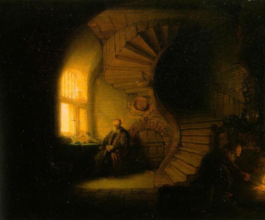 Platon caverne rembrandt